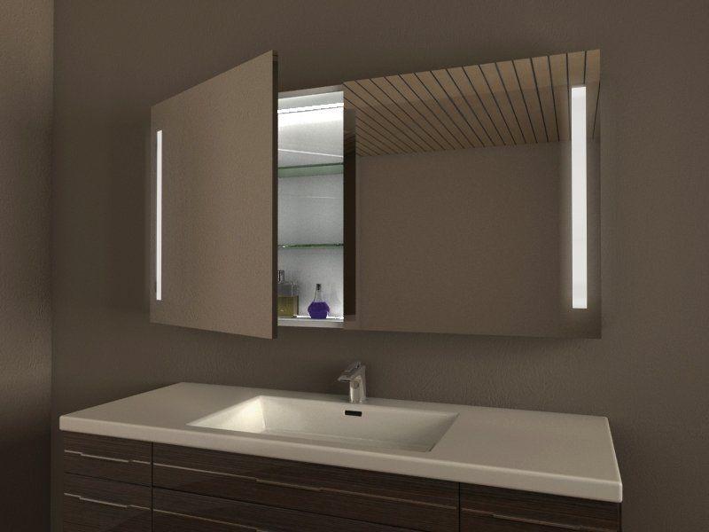 Badspiegelschrank mit Licht (LED) // Modell DRESDEN von ...