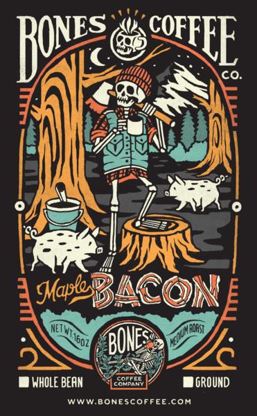 Maple Bacon 12oz Maple bacon, Bacon, Coffee company