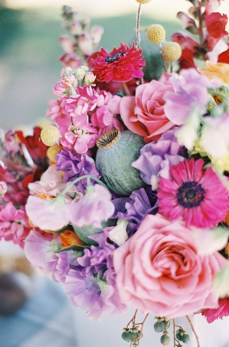 Fiori Estivi.Colorful Summer Wedding Ideas Fiori Estivi Centrotavola