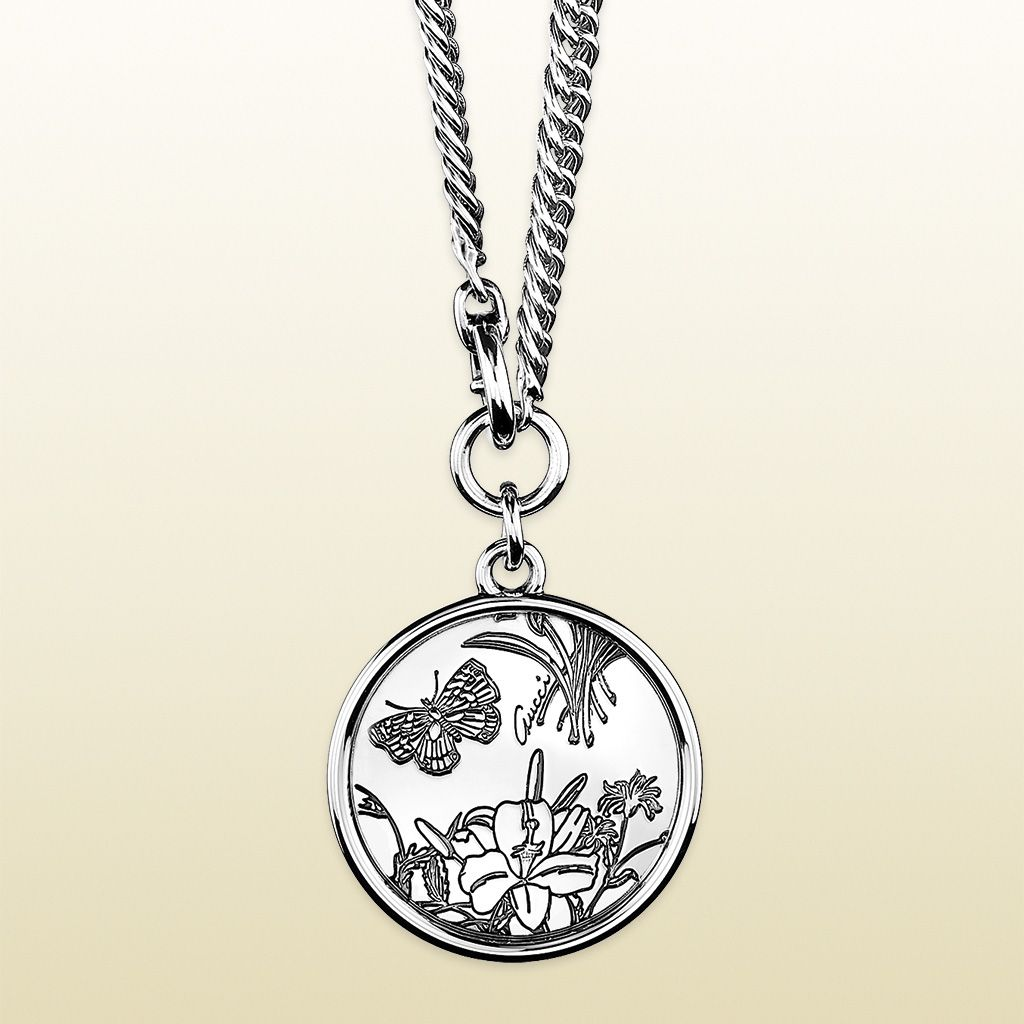 ec910ea13 Gucci's 2013 re-release of their 2007 'Flora' line- Necklace in Sterling  Silver. The Flora design was originally designed for Princess Grace of  Monaco in ...