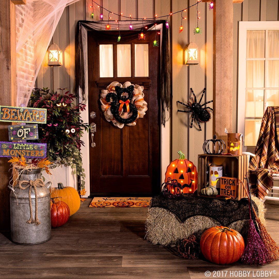 Create the ultimate outdoor Halloween scene with creepy, crawly\u2014and - Hobby Lobby Halloween Decorations