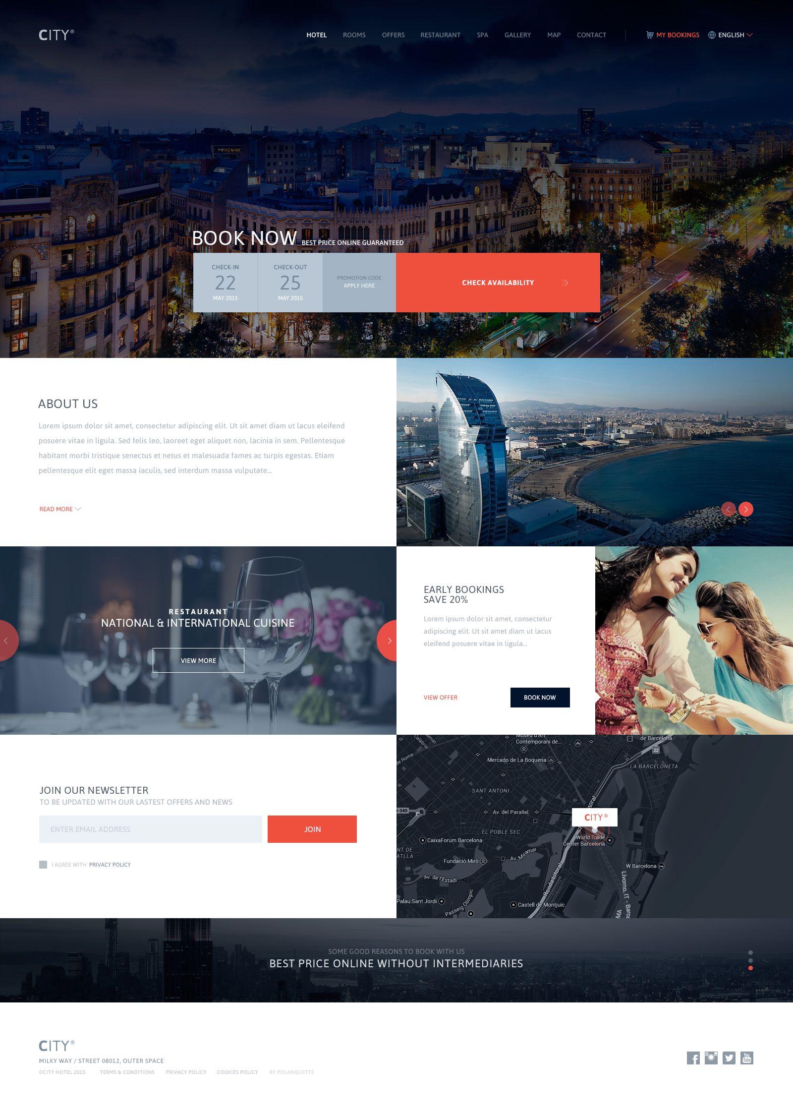 Big Jpg By Jose Polanco Web Development Design Hotel Website Wordpress Web Design