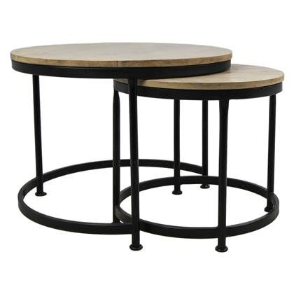 Salontafel Met Webbing.Hsm Collection Steal Salontafel Set Van 2 Table Furniture Home