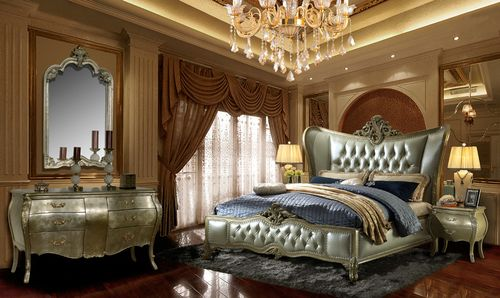 Best Hollywood Glam Eastern King Bed Set Of 5 Luxurious 400 x 300
