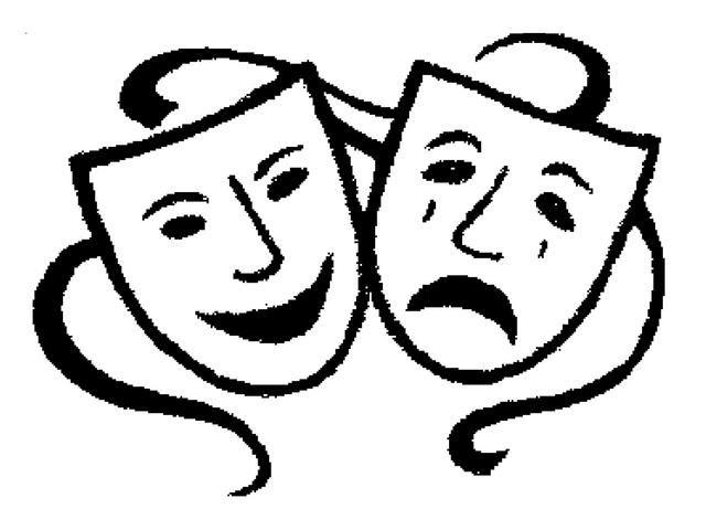 Theatre Masks Clipart Theatre Masks Clip Art Cartoon Drawings