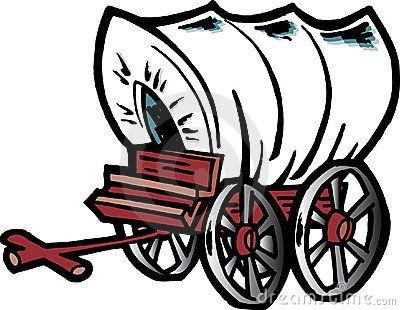 Cartoon Covered Wagon Chuck Wagon Covered Wagon Wagon