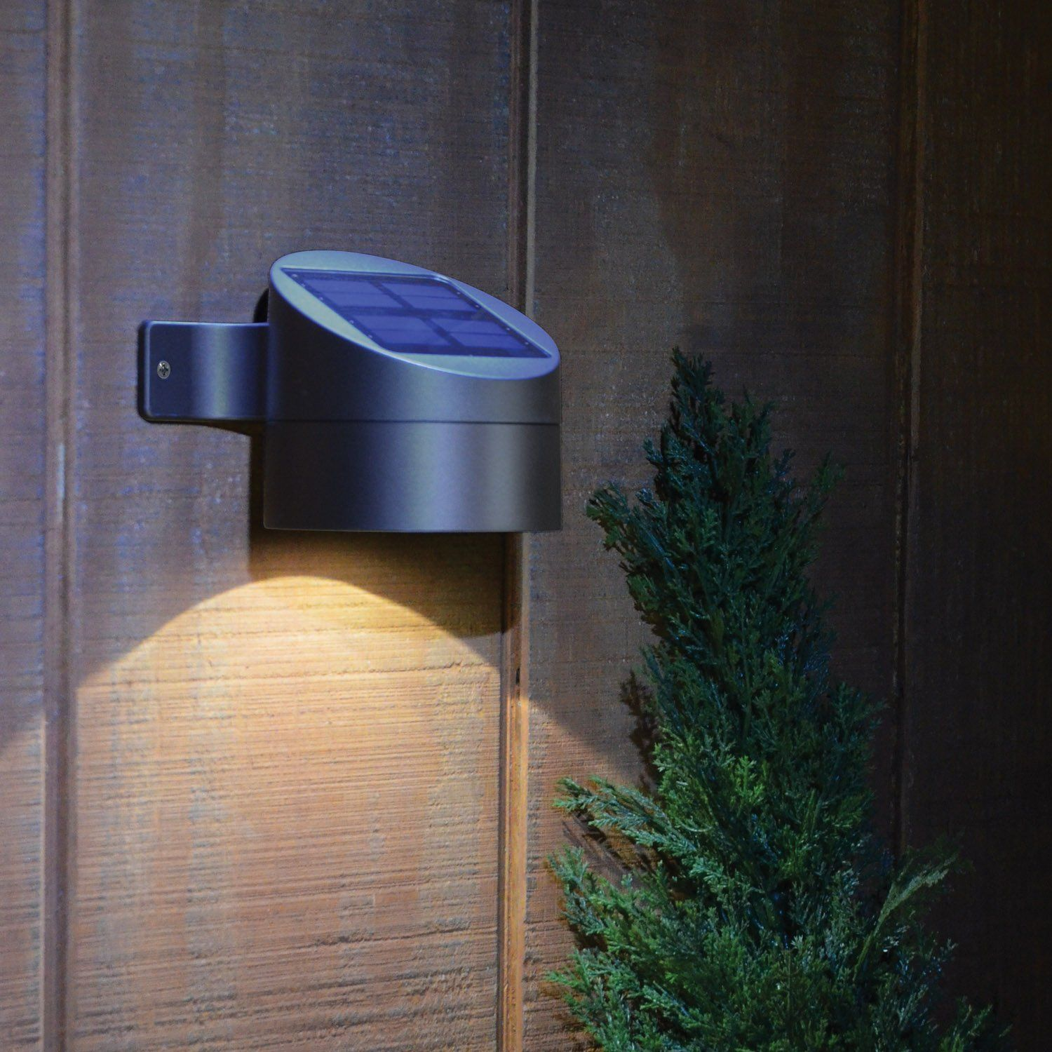 Exceptional The Moonrays Outdoor Bronze Solar Powered LED Wall Mount Deck Sconce Light  Includes Two Rechargeable Batteries For Your Convenience.