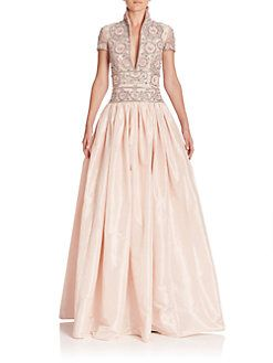 ba0824d0d6 Naeem Khan - Beaded Taffeta Gown