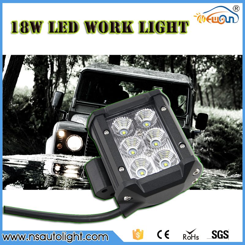 Free shipping 2pcs 4 18w led work light bar spot beam 12v24v 6 led free shipping 2pcs 4 18w led work light bar spot beam 12v24v 6 led3w 1400lm offroad driving motorcycle lamp truck fog light in car light assembly from aloadofball Image collections