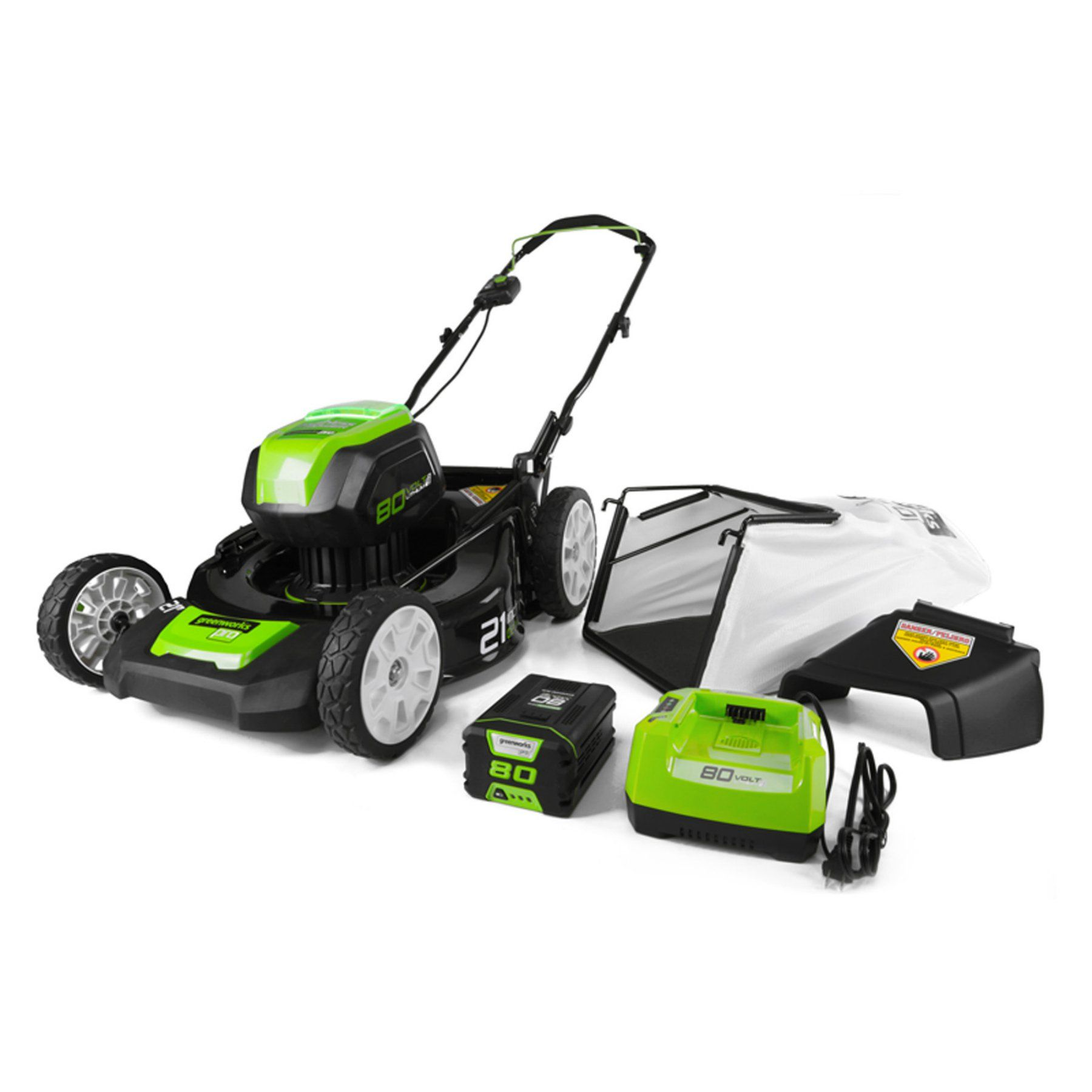 Greenworks 21in. Electric Lawn Mower 2502202 Cordless