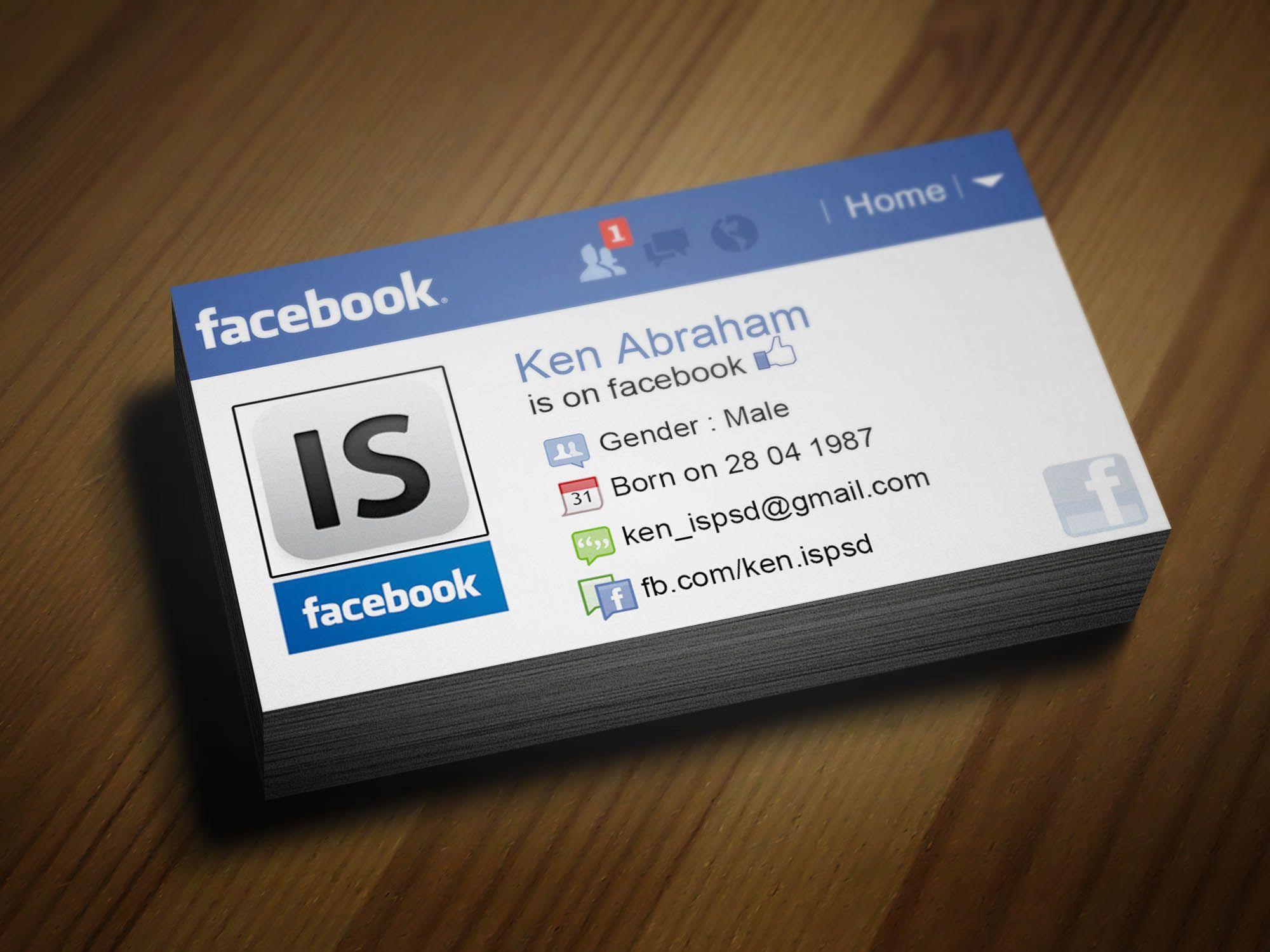 Facebook Und Instagram Logo Für Visitenkarten In Verbindung