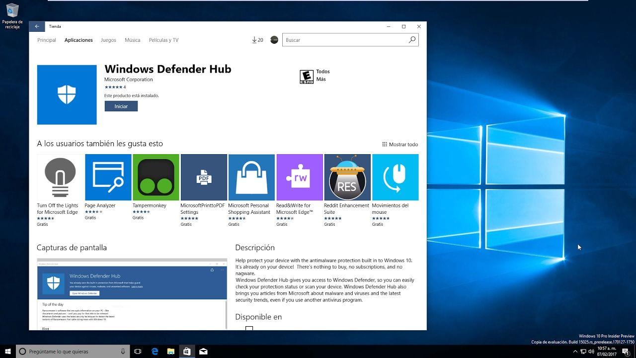 Windows Defender Hub, consejos de seguridad en Windows 10