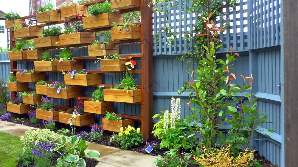 Delightful Backyard Herb And Flower Garden.