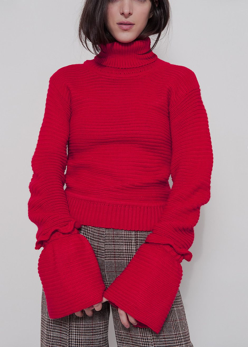 Chakshyn Red Bell Sleeve Sweater – The Frankie Shop | Ss18 ...