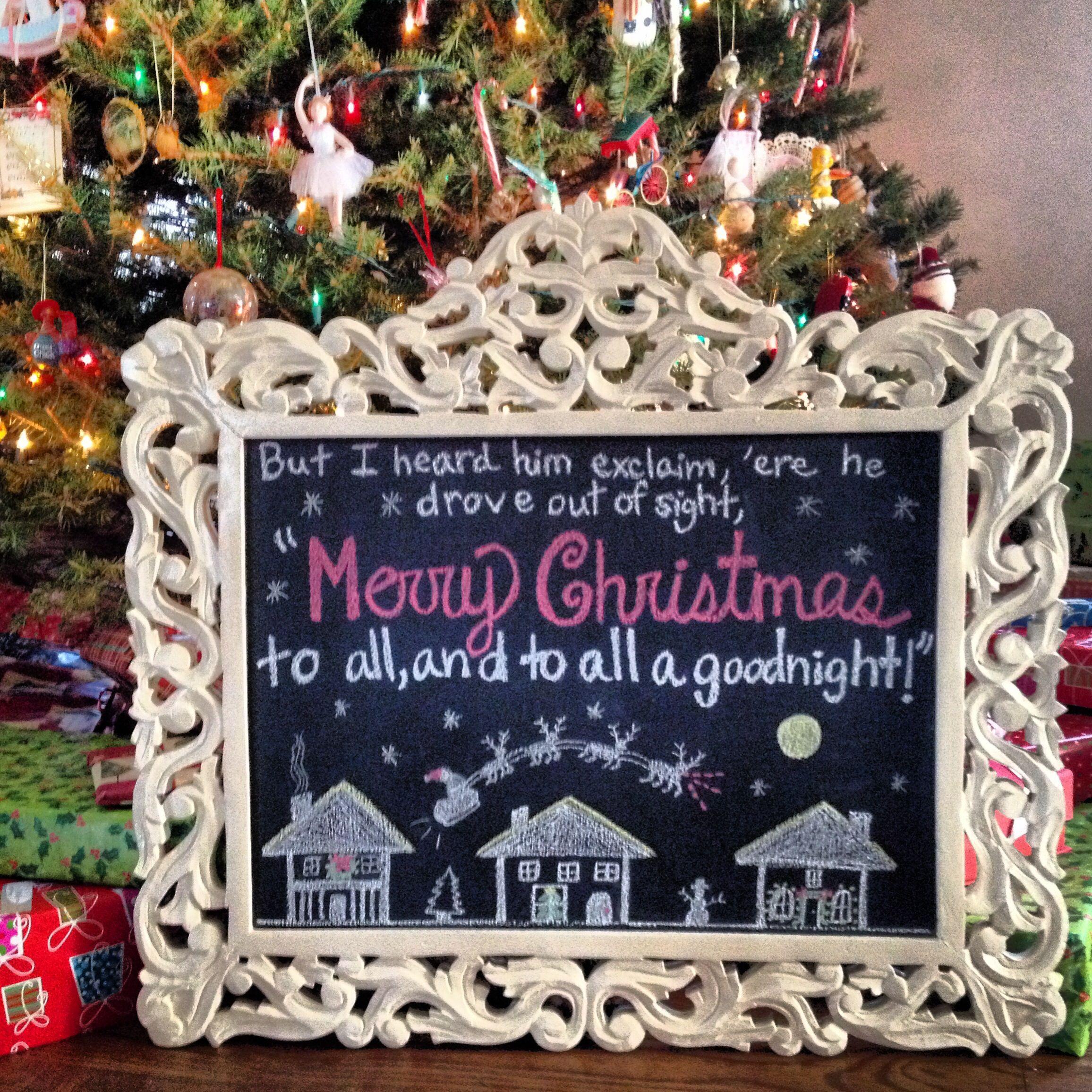 Christmas chalkboard!