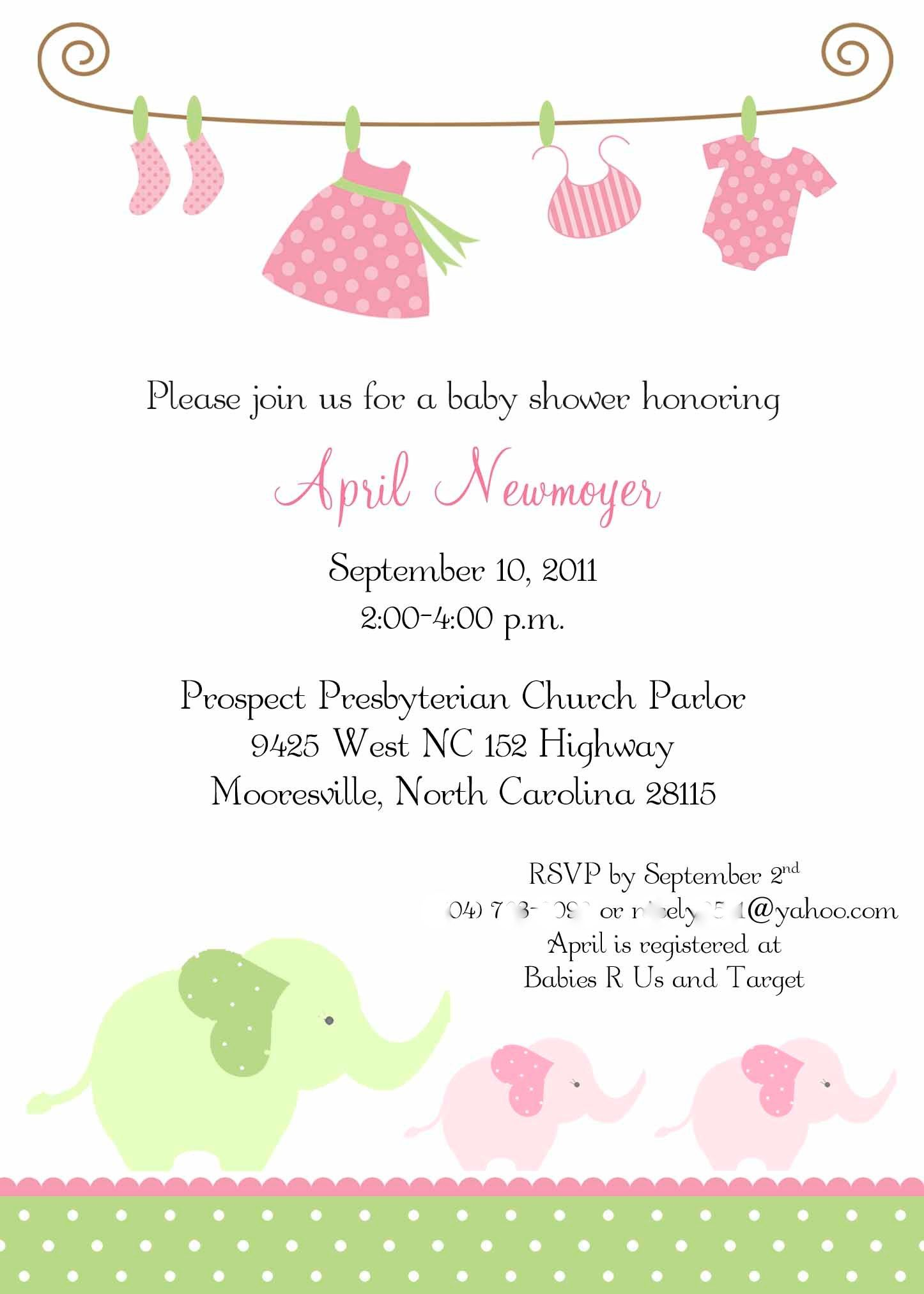 Baby Girl Shower Invitations Free Printables | ... invitations ...
