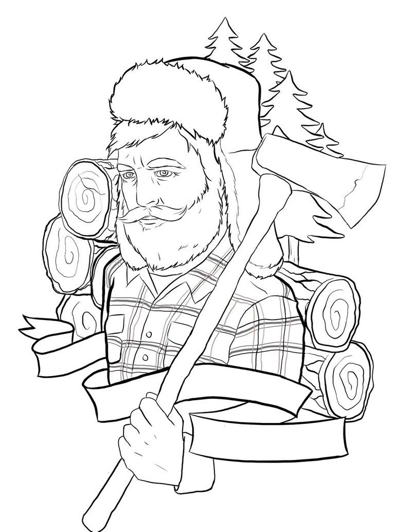 Lumberjack Tattoo Outline By Ziuuziuu On Deviantart Tattoo Outline Lumberjack Memorial Tattoo Designs