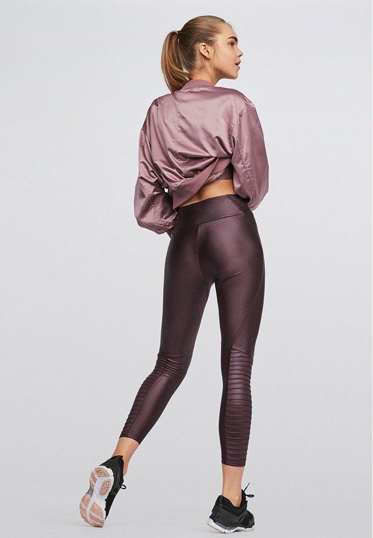 d01d3546a3c3f OYSHO Tights - dark purple - Zalando.de Workout Shoes, Workout Leggings,  Biker