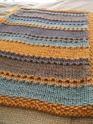 groovy little baby blanket, free pattern by ferenew | Kids Knits ...