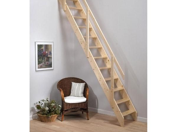 Wooden Loft Ladders With Handrail