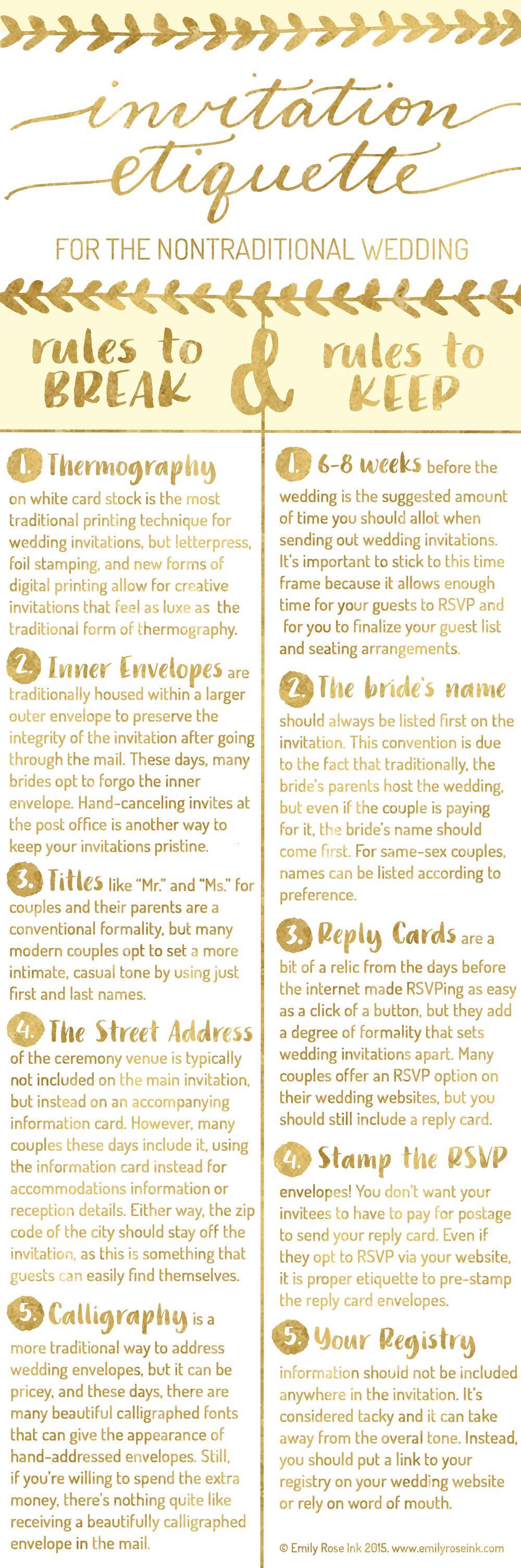 Invitation Etiquette for the Nontraditional Wedding   Nontraditional ...