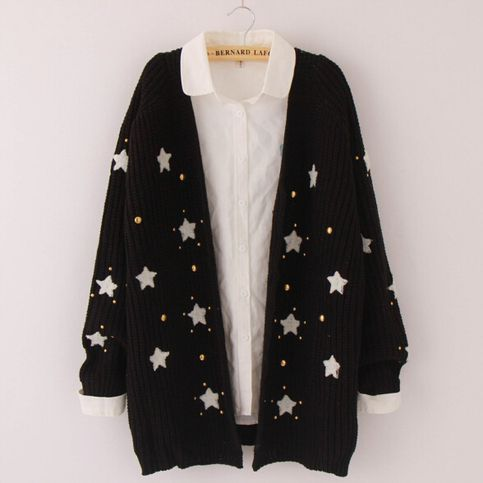 Sweet cute star knit sweater coat – Cool Clothes M8