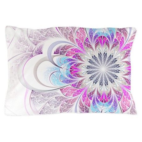 Unique Fractal Flower Pillow Case. Would be an awesome comforter.