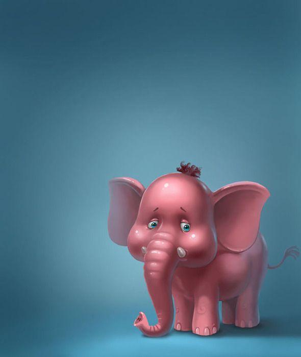 Картинка со смешным слоном