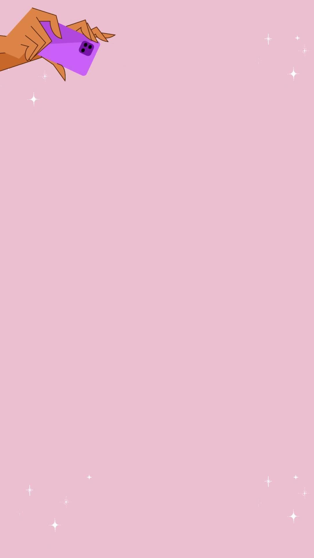 Fundo de STORYS criativo com brilho cor rosinha