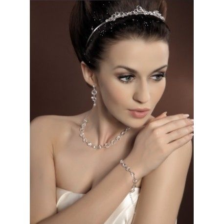 Parure collier et boucle d'oreille mariage