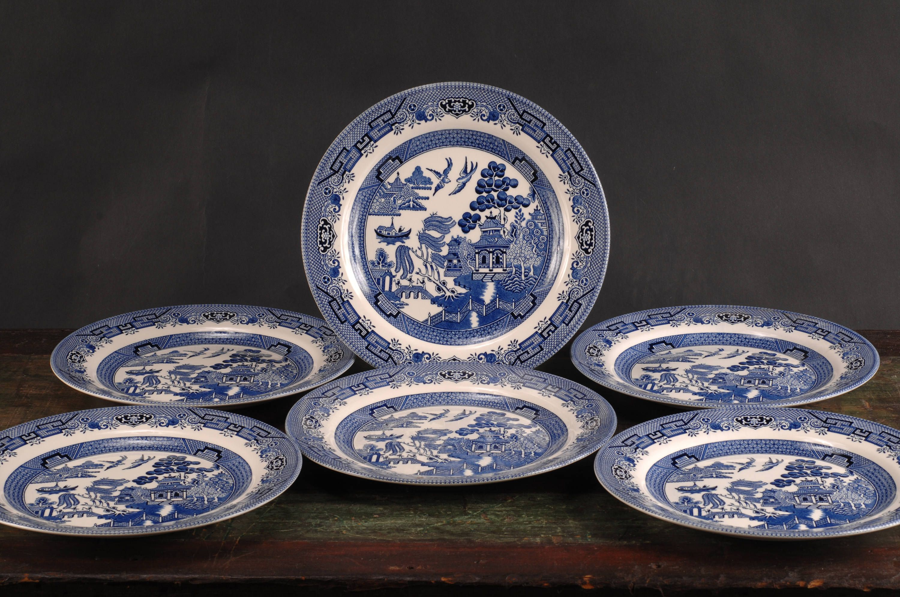 Churchill Blue Willow Dinner Plates Set of 6 England & Churchill Blue Willow Dinner Plates Set of 6 England | Dinner ...