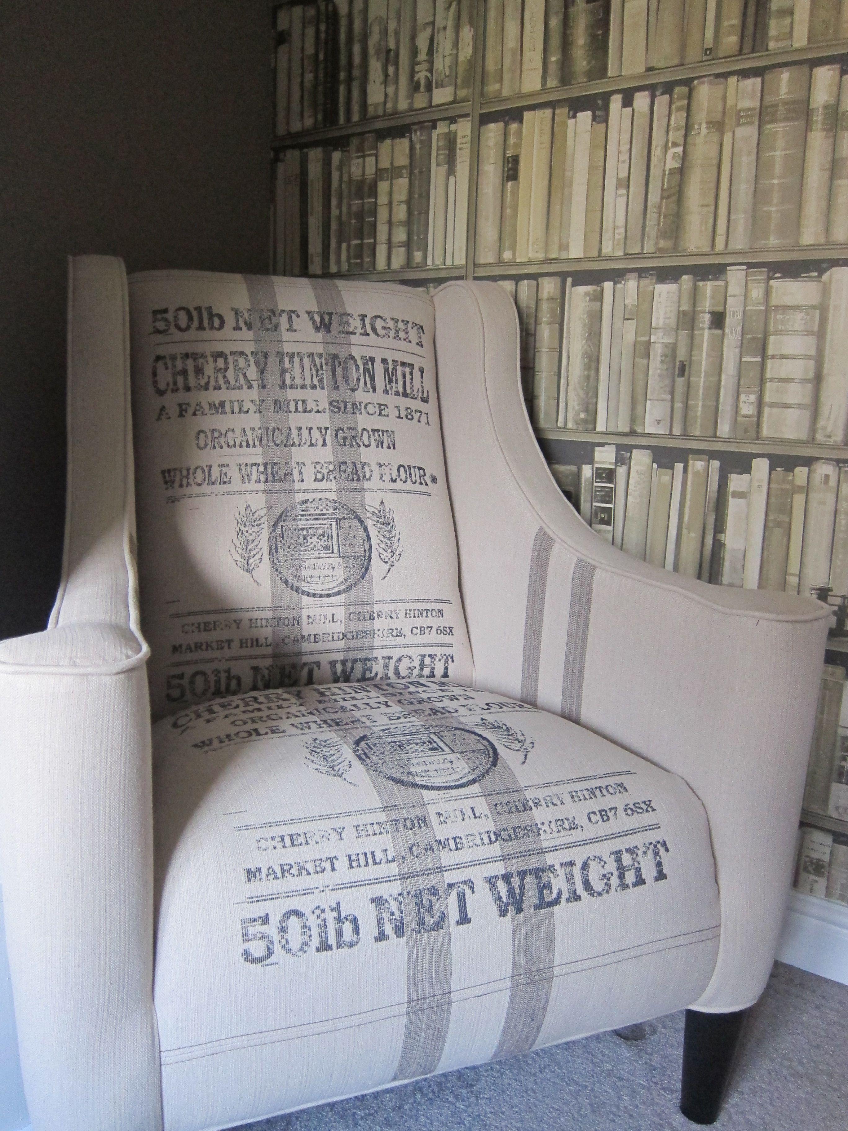 Flour Sack Chair Oh Man I Want One Farmhouse