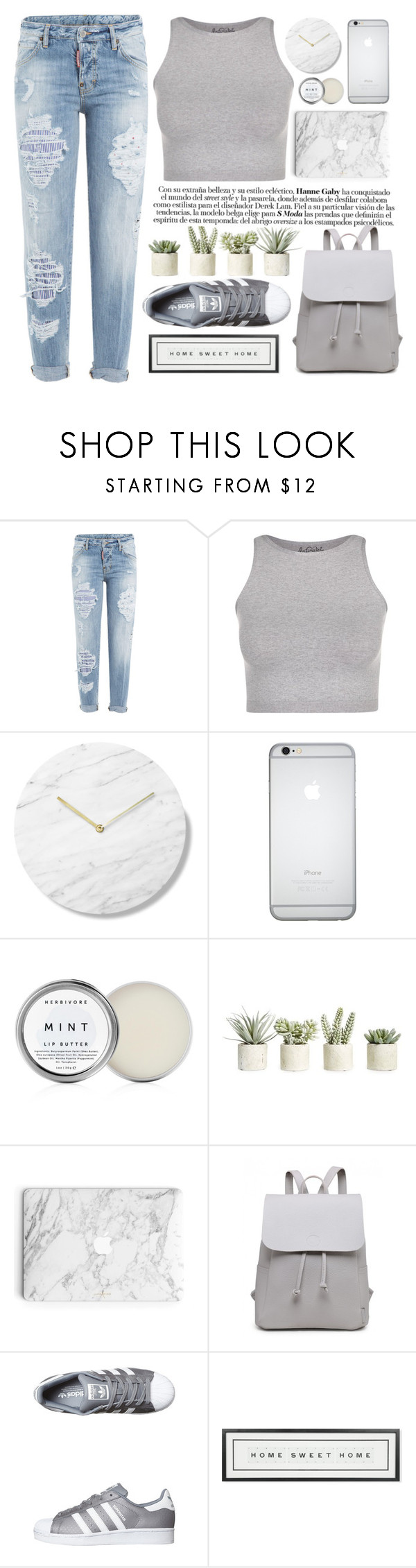 """""""Gonna live it up, 'cause it's dangerous"""" by itaylorswift13 ❤ liked on Polyvore featuring Dsquared2, Free People, Herbivore, Allstate Floral, adidas Originals and Vintage Playing Cards"""