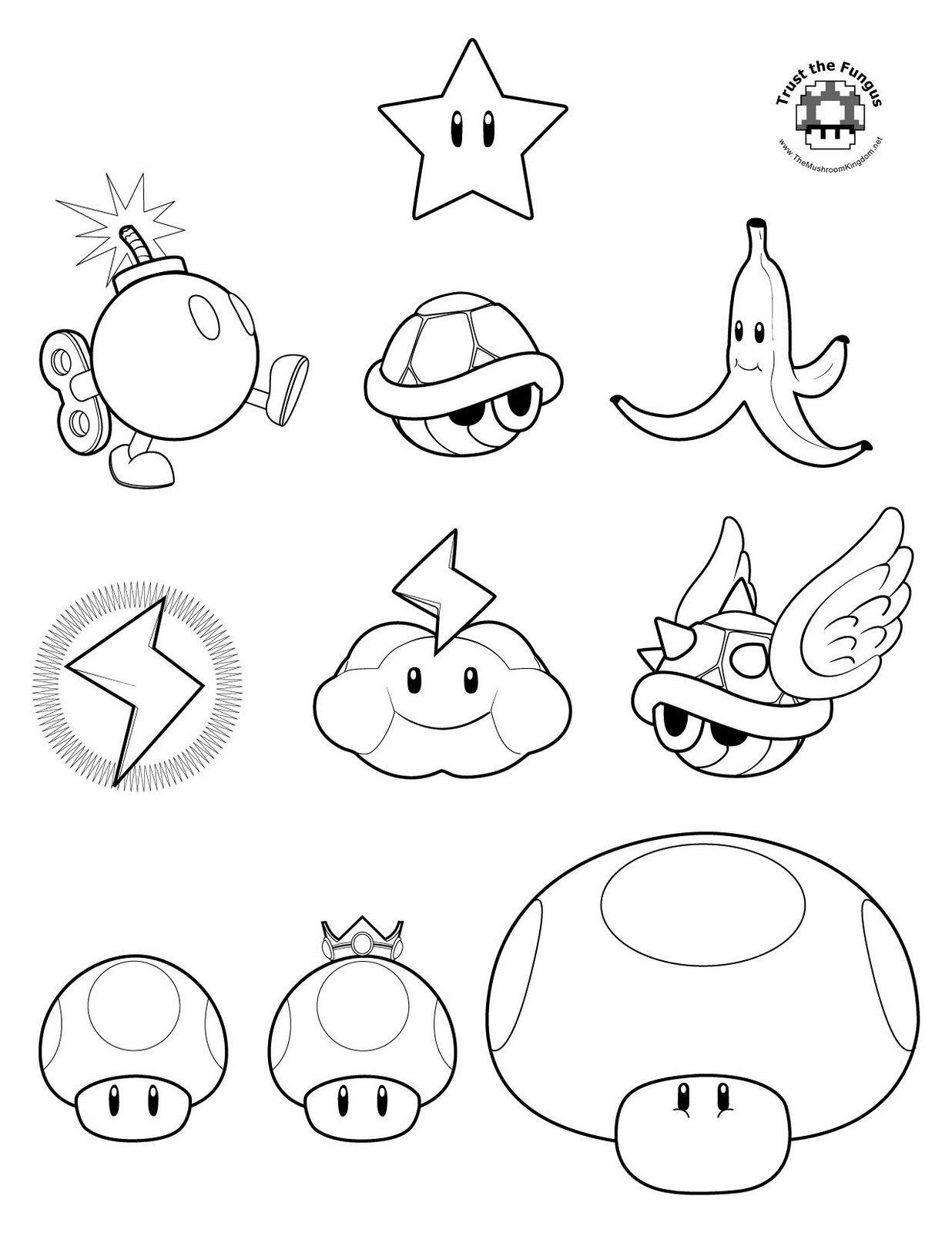 Mario Kart Wii 4 Super Mario Coloring Pages Mario Coloring