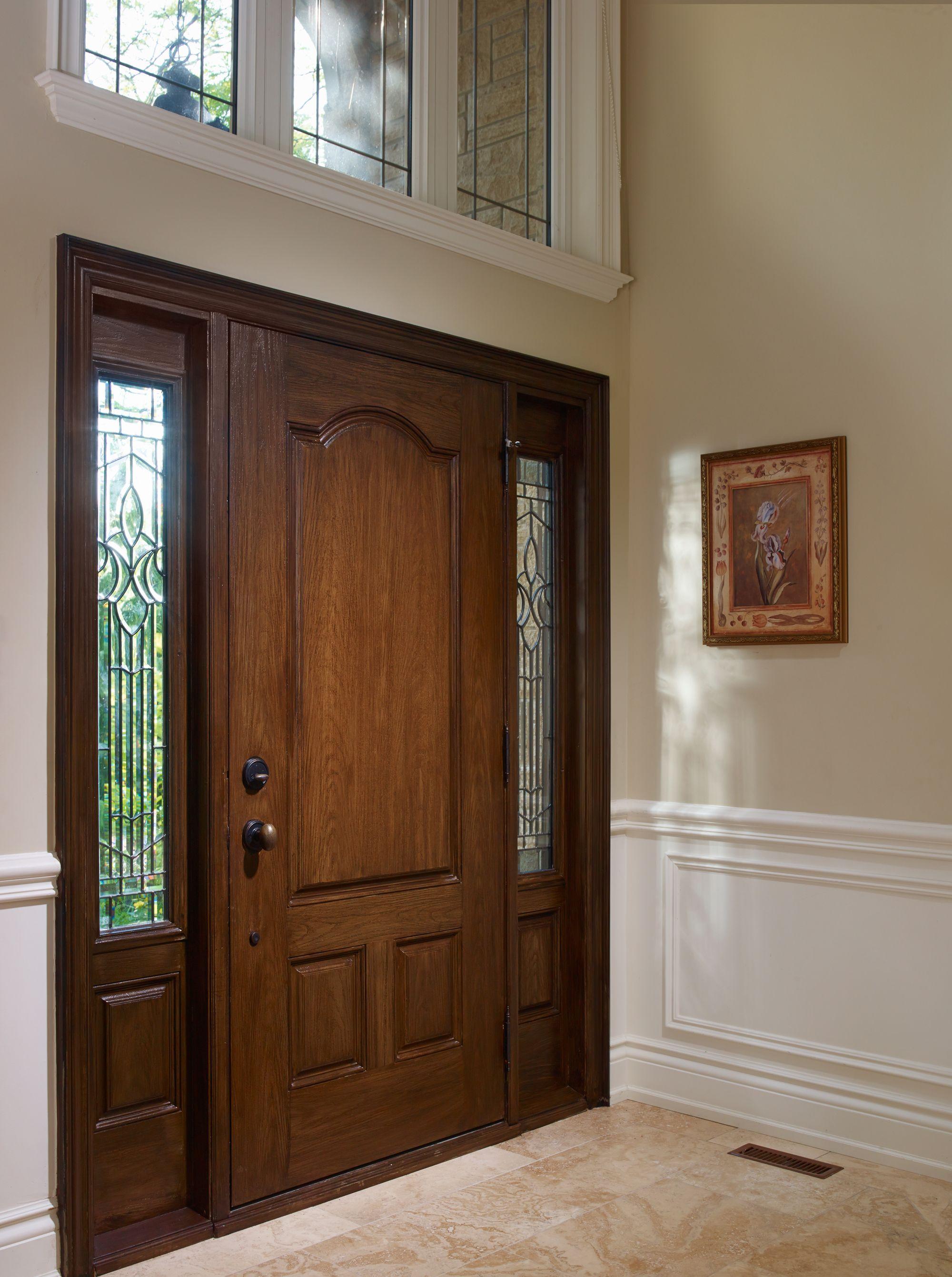 Fiberglass entry door systems wood doors - Fiberglass 3 Panel Entry Door System With Sidelites View More Of Casa Bella S Fiberglass Doors