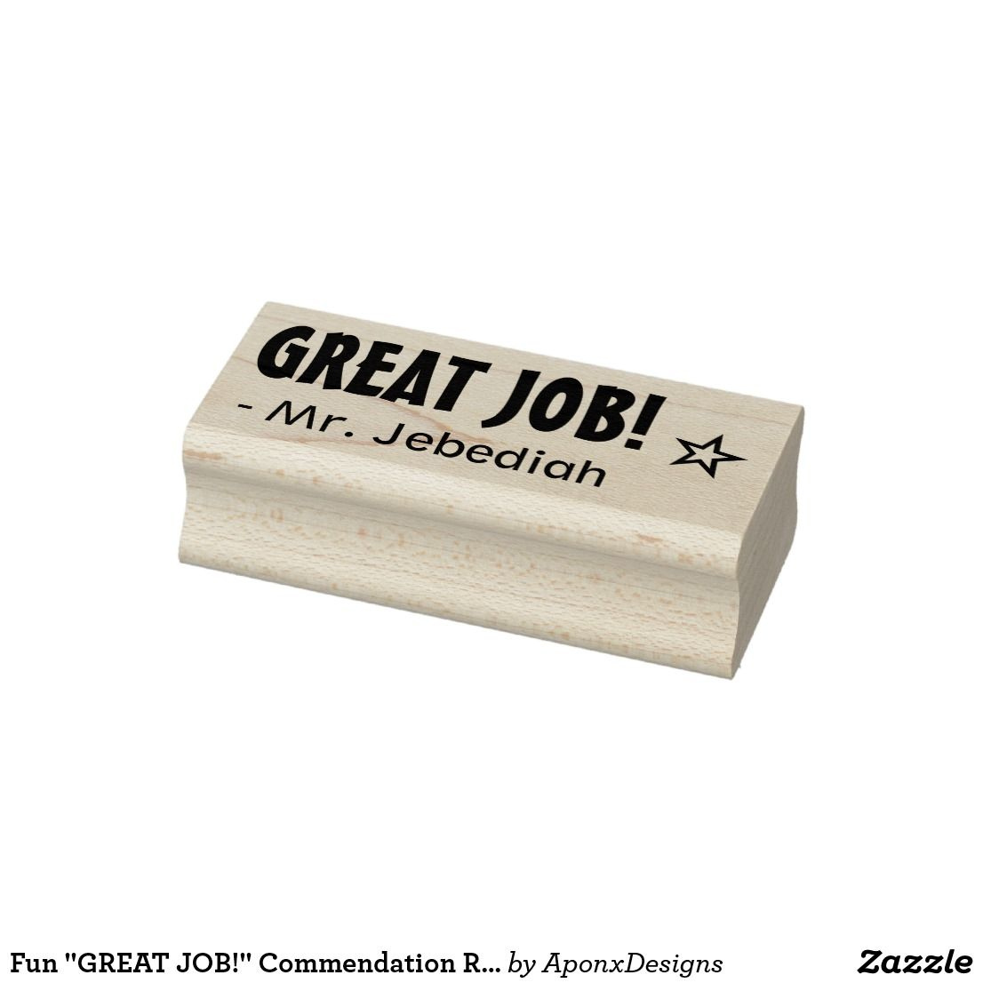 "Fun ""GREAT JOB!"" Commendation Rubber Stamp"