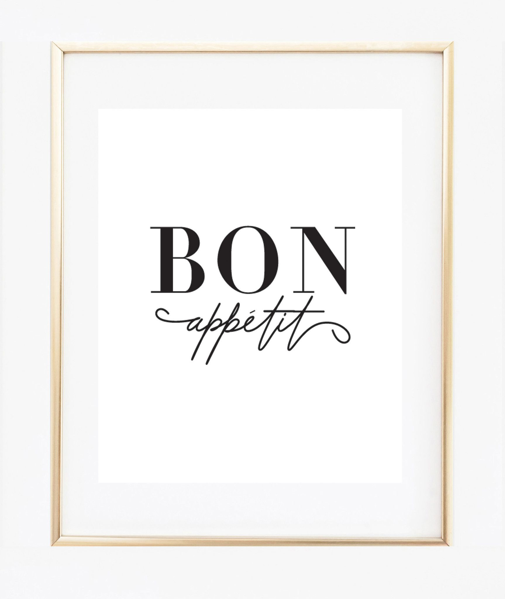 This French Bon Appétit Kitchen Decor Make A Chic Statement. ☆ PRODUCT SKU  # ☆ ♥ Prints Do Not Come Framed, Framed Images Are Just For