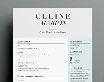 Resume Template  Cv Template Cover Letter For By Oddbitsstudio