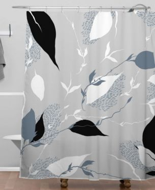 Deny Designs Iveta Abolina Scandi Ice Tan Shower Curtain Bedding