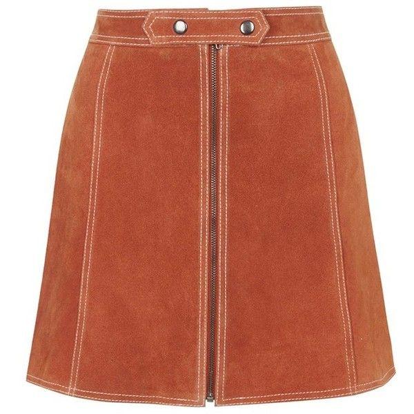 279c74f597 Topshop Suede A-Line Miniskirt (2