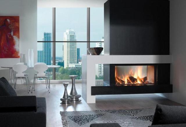 le foyer heat pure 105 double face de la marque kal fire est disponible chez louis decottegnie. Black Bedroom Furniture Sets. Home Design Ideas