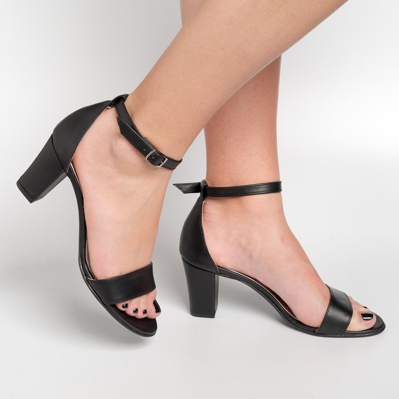 Black heels, Black heeled sandals