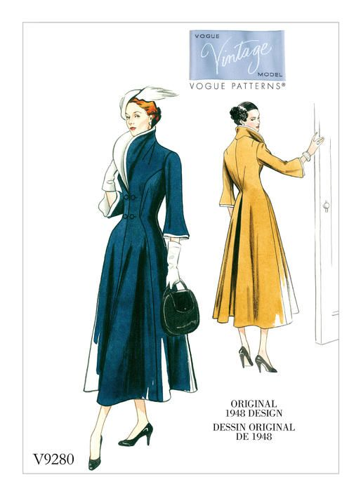 V9280 reissue of Vogue Couturier Design 491 | ca. 1948 Dress or ...