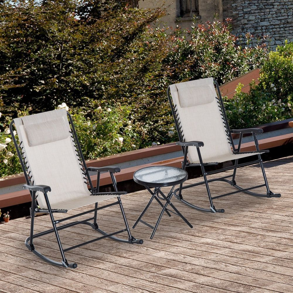 Outdoor Seating Set Folding Bistro Table Rocking Chairs Camping Patio Furniture Outdoorseatingset Outdoor Rocking Chairs Patio Chairs Patio Rocking Chairs