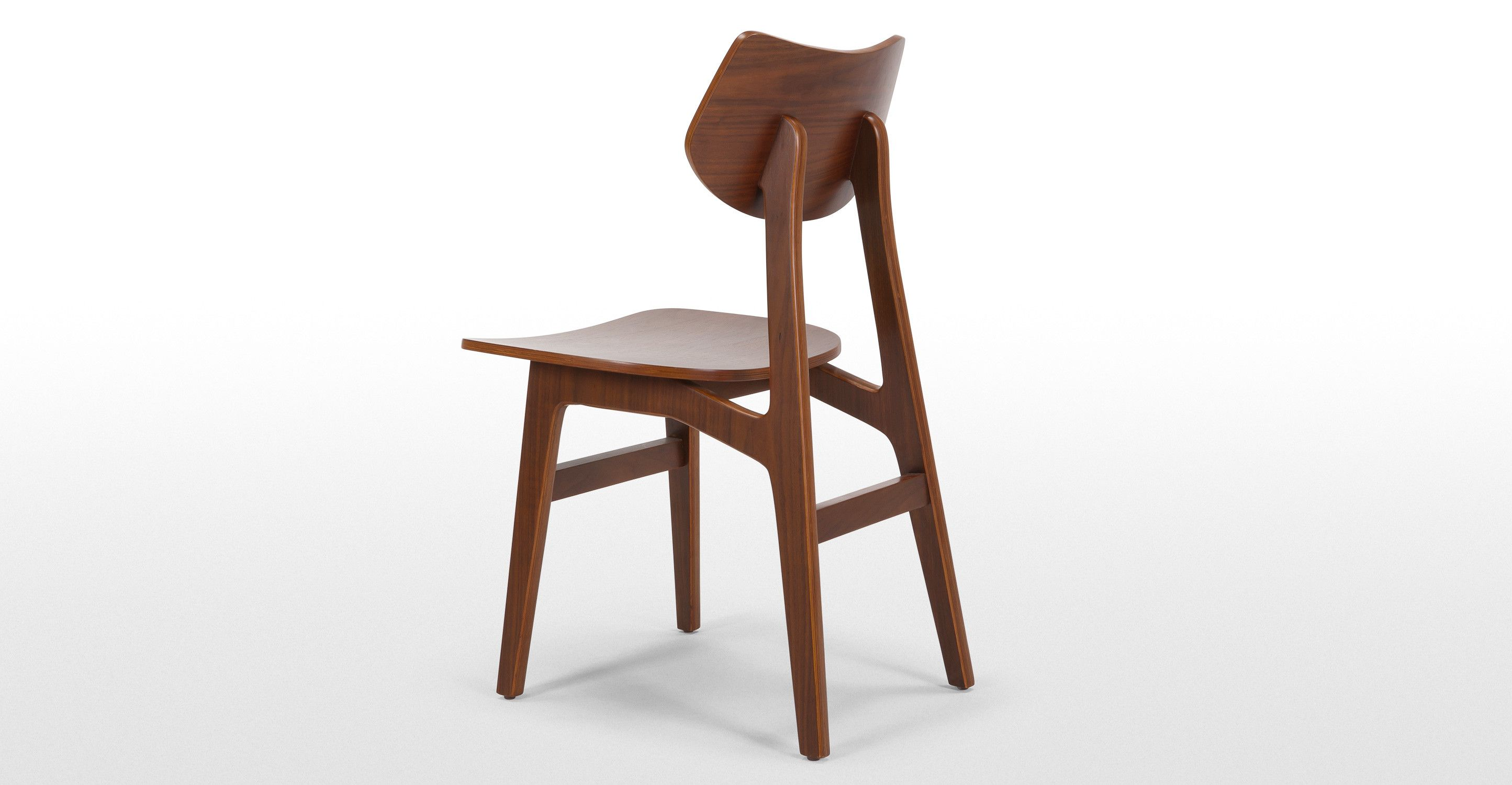 Made 2 X Dining Chairs Natural Walnut Wood Express Delivery Jacob
