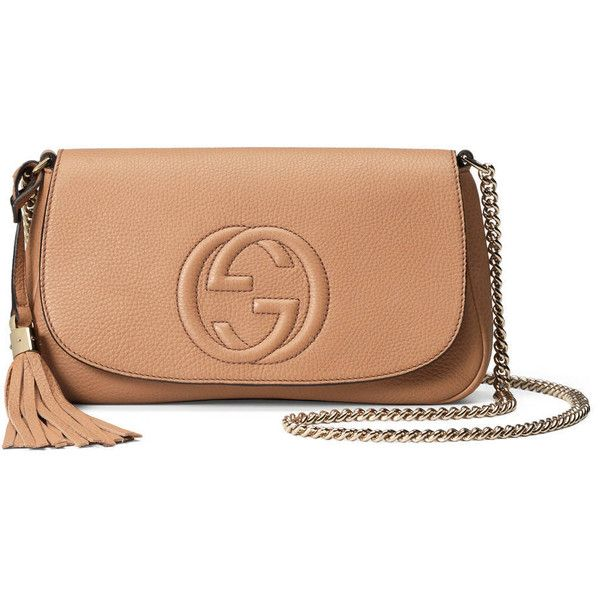 9d1d2408a718 Gucci Soho Leather Shoulder Bag ( 990) ❤ liked on Polyvore featuring bags,  handbags, shoulder bags, cross body, natural, leather crossbody, leather  cross ...