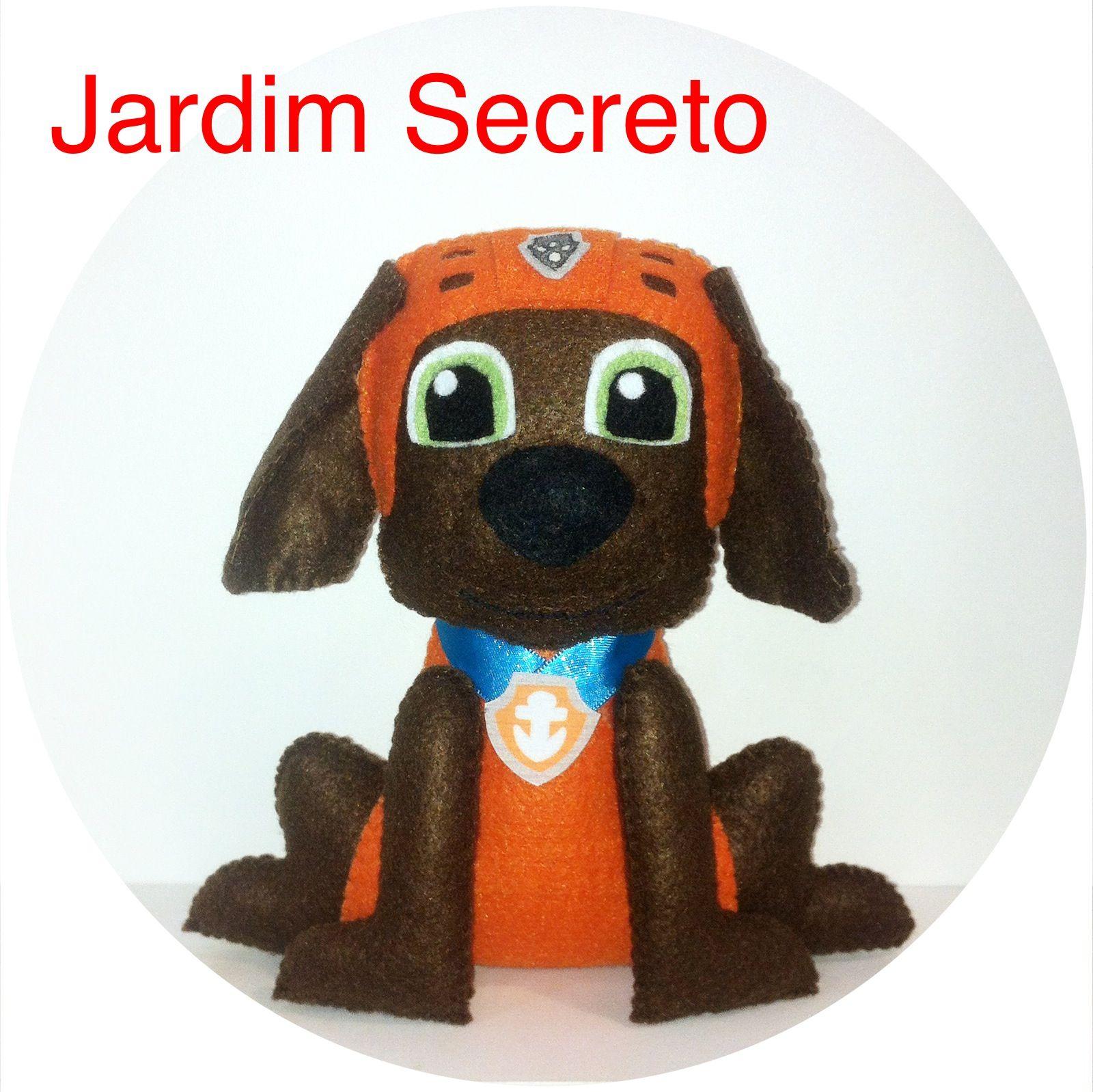 Zuma - Patrulha Canina / Paw Patrol Boneco Em Feltro