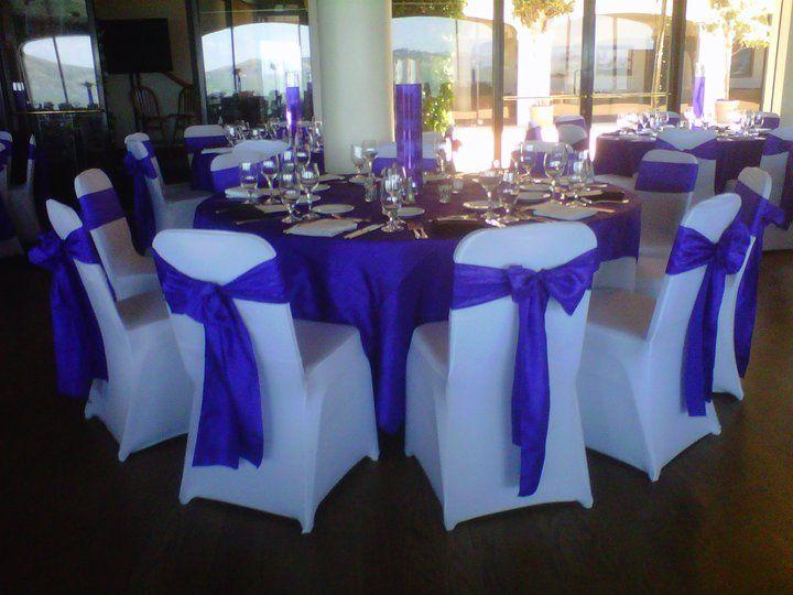 White Spandex Chair Covers W Purple Crinkled Taffeta Sashes Twitter Bayarealinens Www Bayarealinens Chair Covers Banquet Chair Covers Chair Covers Wedding