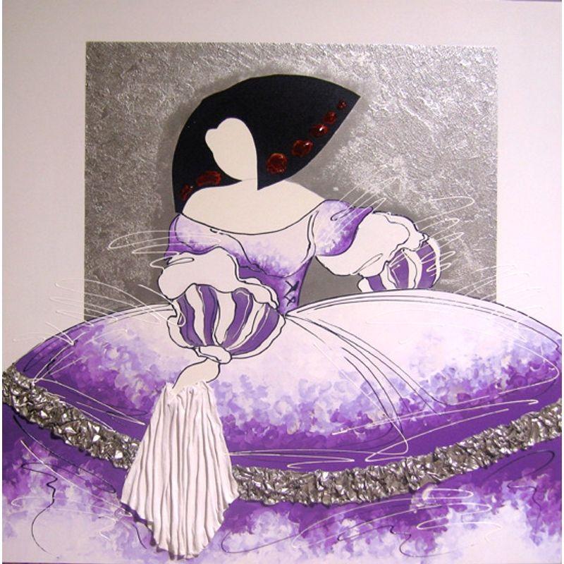 Cuadro oleo menina vestido color violeta meninas pinterest for Cuadros meninas modernas