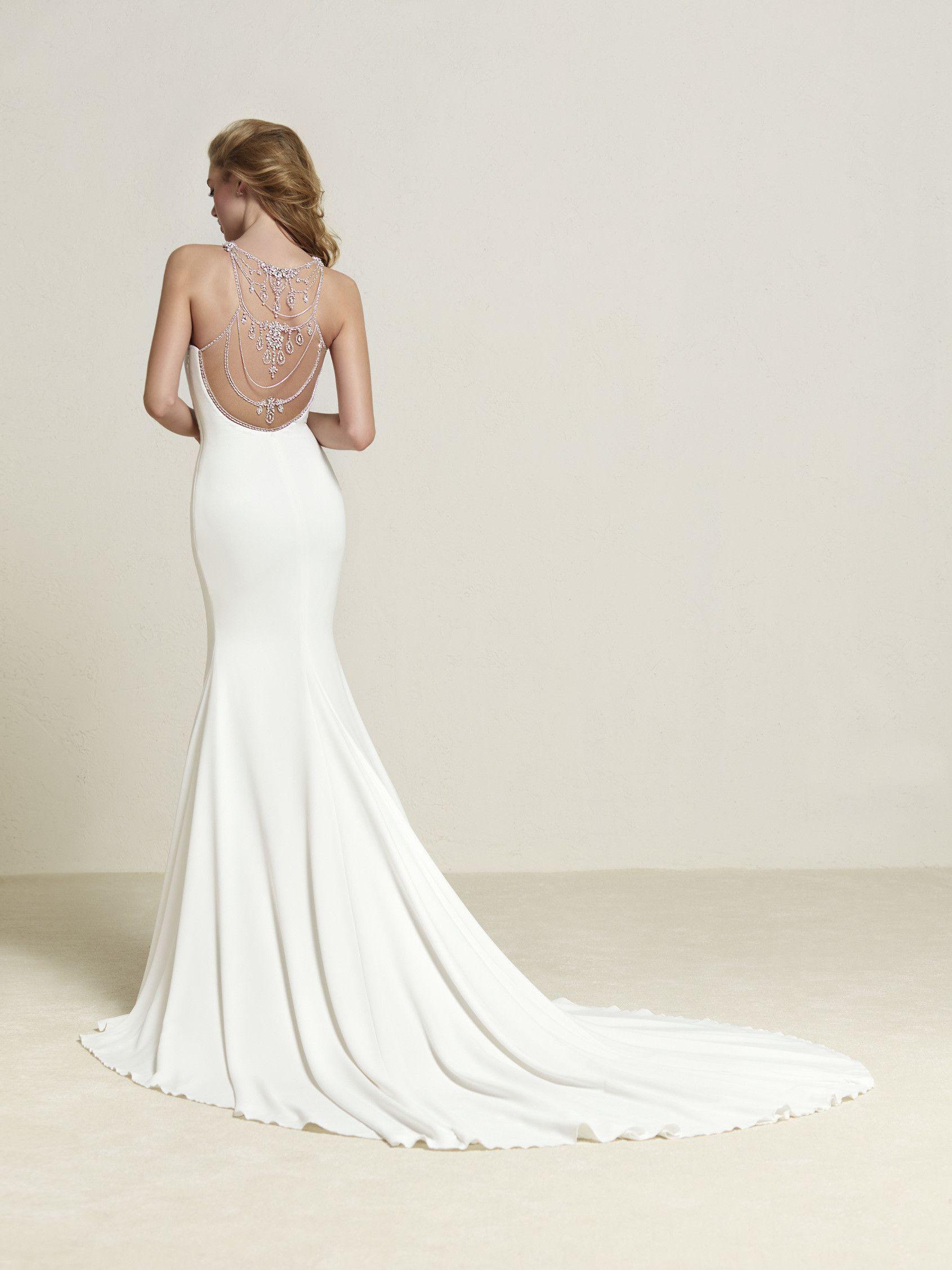 Vestido de novia estilo sirena con espalda espectacular - Dreba ...
